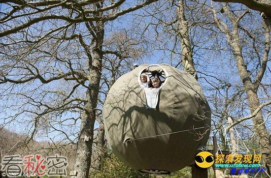 """""""UFO""""树栖帐篷可悬挂半空放置舒适双人床"""