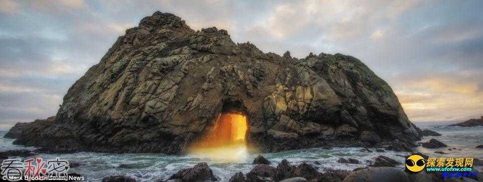 美加州海滩一年一现神秘橙光奇观 美轮美奂