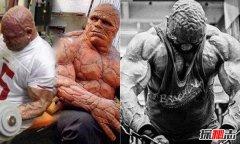 世界上肌肉最发达的人:真实版石头人头部都有肌肉