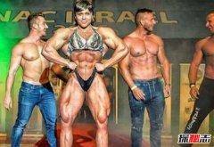 世界肌肉最发达的女人,身体壮如牛大腿比腰粗(71厘米)